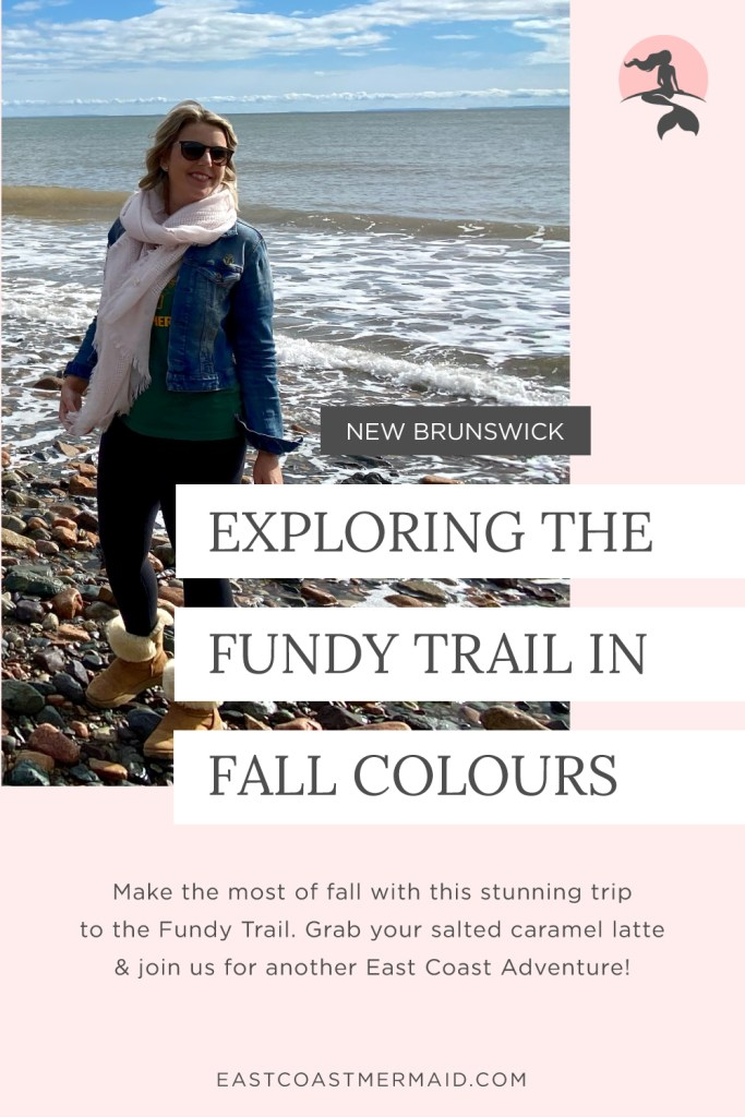 East Coast Mermaid's favourite itinerary for an October day trip to St. Martins and the Fundy Trail leaving and returning to Moncton, New Brunswick.  Enjoy the fall colours with this perfectly planned day trip in New Brunswick, Canada.