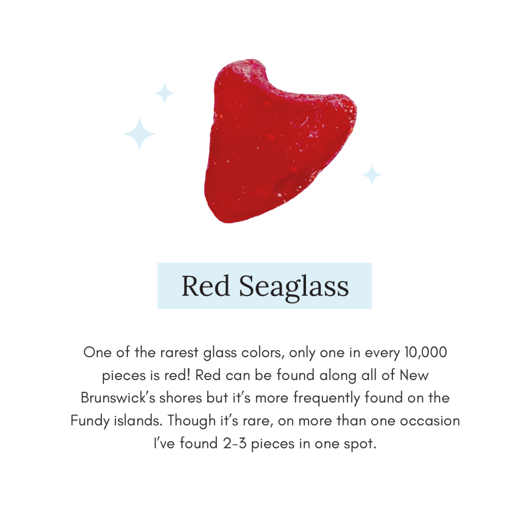 Image of ultra rare Red Seaglass with short explainer
