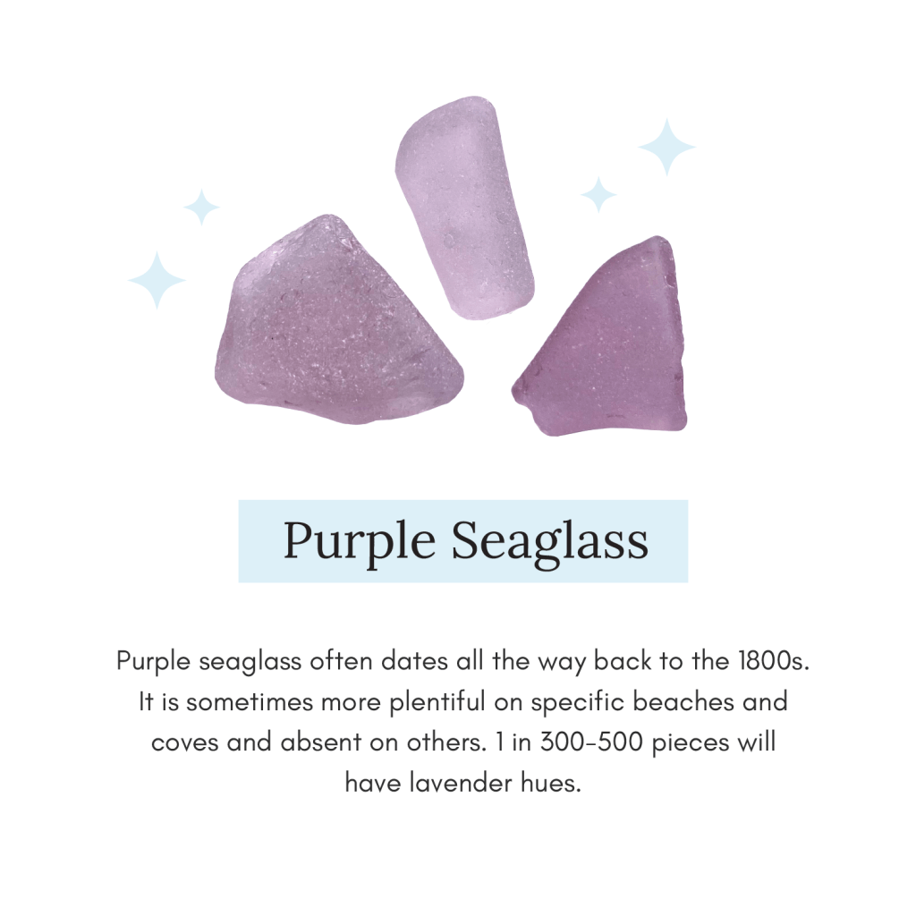 Image of Purple Seaglass with short explainer