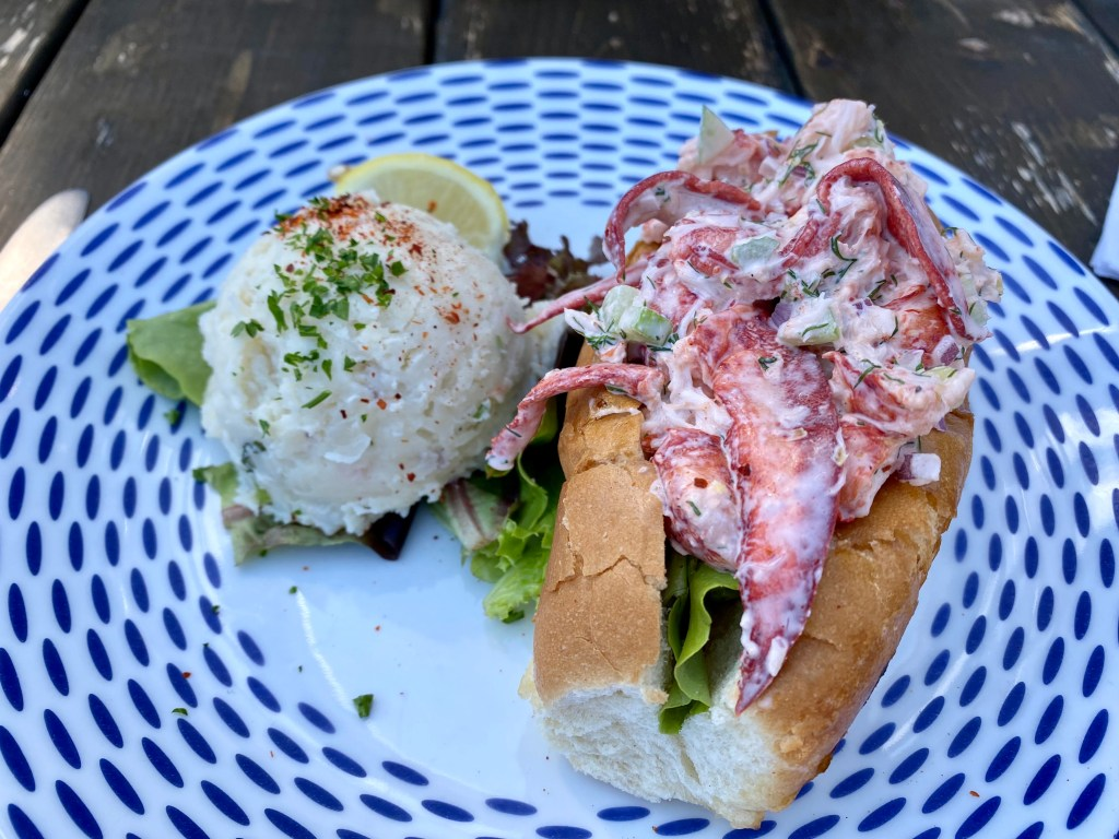 Lobster rolls at Blue Mussel Cafe in North Rustico