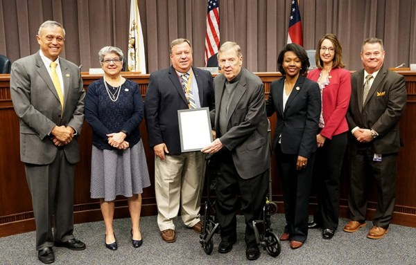 Cobb Board of Commissioners recognizes retired Sen. Isakson
