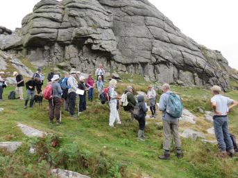 Gathered at the base of Haytor