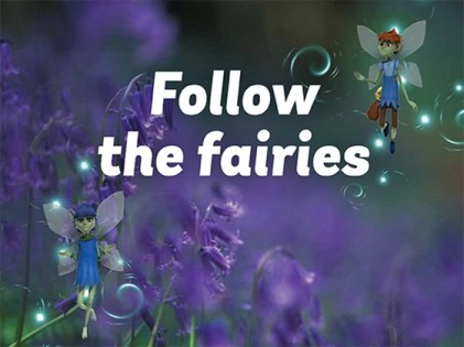 Blue and Belle, the woodland fairies