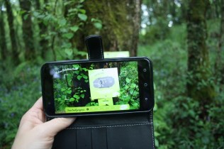 Scanning the image lets the app know where you are on the trail