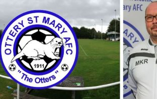 Ottery St Mary Football Club and chairman Mike Ringer at Washbrook Meadows