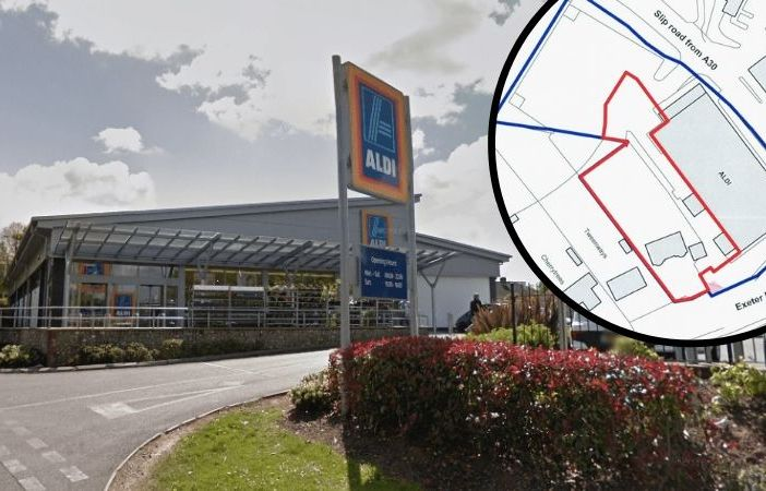 Aldi in Honiton could be expanded if plans get the go-ahead. Main image: Google Maps