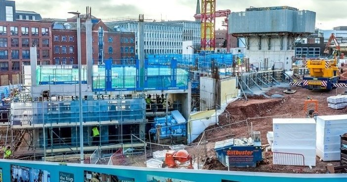 Construction on the new Exeter Bus Station. Image: Exeter City Council