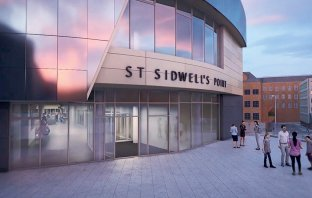 An artist's impression of the new St Sidwell's Point leisure centre in Exeter. Image: KawneerUK