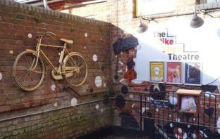 The entrance to the former Bike Shed Theatre in Exeter.