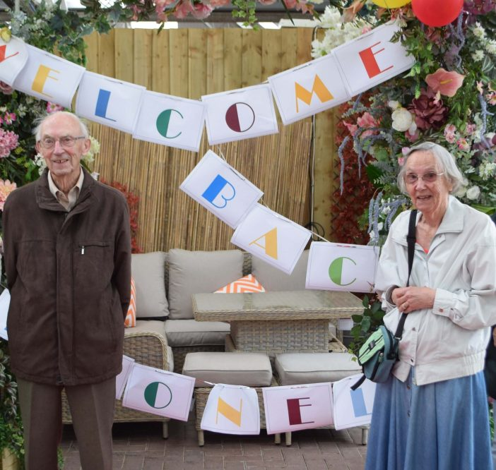 Lionel Smith and his wife Barbara were special guests at Otter Garden Centres. Picture: Sue Cade