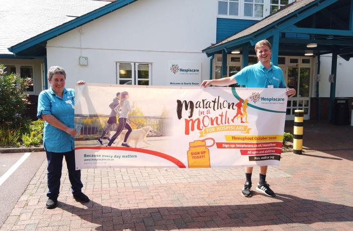 Hospiscare, which helps terminally ill people and their families in Exeter, Mid and East Devon, has launched the Marathon in a Month challenge.