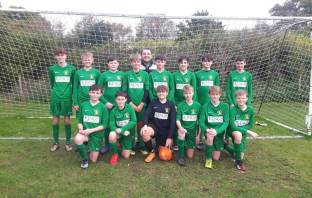 Sidmouth Town Under-14s before their meeting with West Hill in the Exeter and District Youth League. Picture: Sidmouth Town Junior Vikings