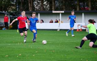 Frank Rosenwald scored six times in the Honiton Town FC win over Stoke Gabriel. Picture: Andrew Symonds