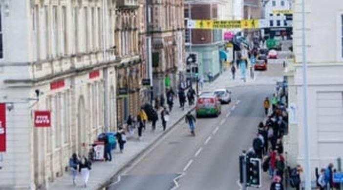 Queen Street in Exeter. Image: Devon County Council