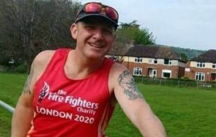 Sidmouth Running Club member Allan Kay is taking on the Blue Light Challenge.