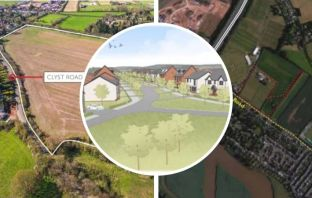 The plans for the 'Topsham gap' include sites off Exeter Road and Clyst Road.