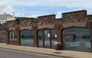 The Arches on Sidmouth seafront.