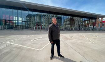 Exeter City Council leader Phil Bialyk at the city's new bus station. Picture: Exeter City Council