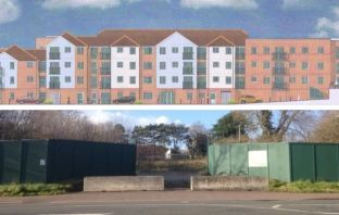 Plans for the site off Salterton Road in Exmouth.