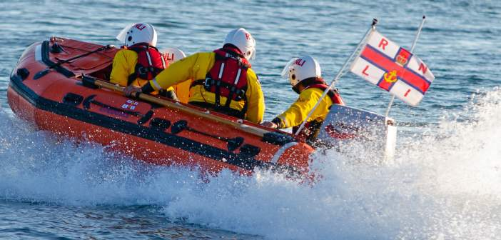 Drifting out-of-control boat is towed to safety by Exmouth RNLI