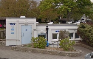 Public toilets at the Three Cornered Plot in Sidmouth. East Devon