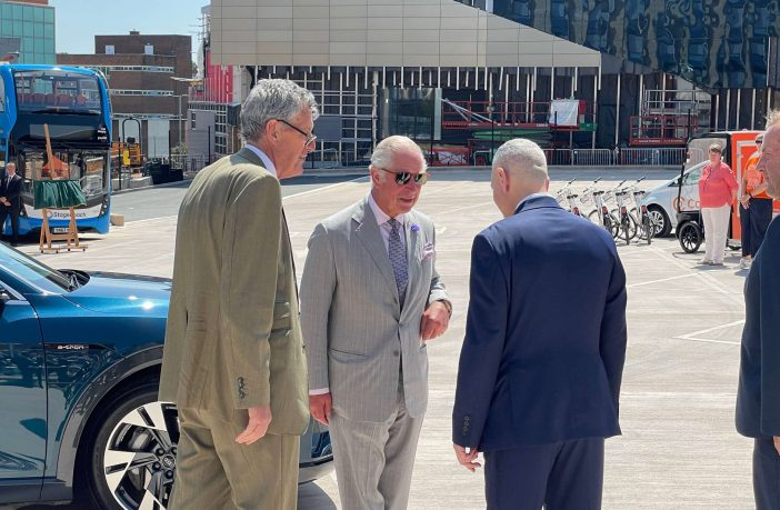 Prince Charles at Bus Station. Image: Exeter City Council