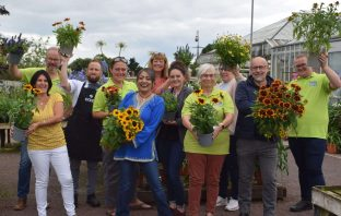 Sponsors and supporters of Ottery St Mary Food and Families Festival gather at Otter Garden Centre. Image: Sue Cade