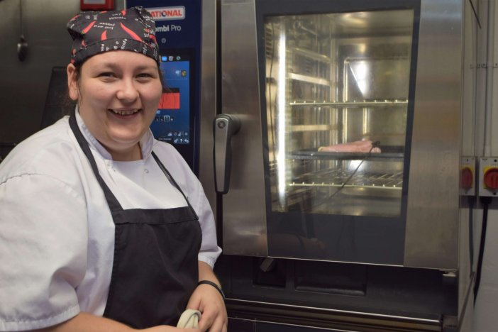 Head Chef Gemma Youlden at the Volunteer Inn in Ottery St Mary. Image: Sue Cade