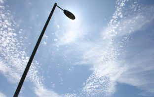 Generic picture of a street light column (Image Devon County Council)