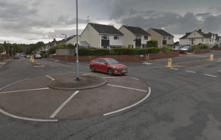 The roundabout linking Whipton Lane and Sweetbrier Lane in Exeter. Image: Google Maps