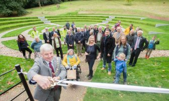 Councillor Jeff Trail BEM, chair of Devon County Council, opens the flood alleviation scheme in Sidmouth. Photo: GRW Photography