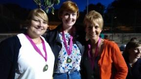 Bronze Medal Winners, Aimee, Sarah Armstrong & Kim