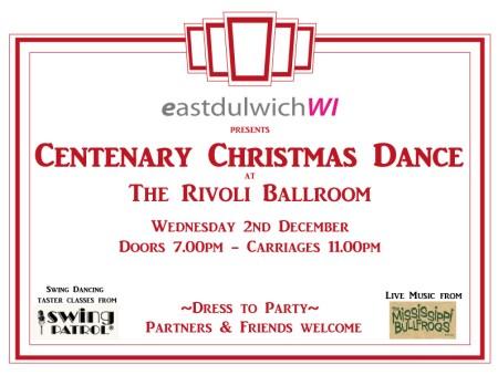 EDWI Centenary Dance at the Rivoli ballroom