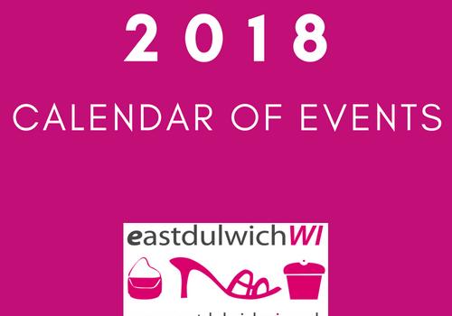 EDWI 2018: Event Schedule