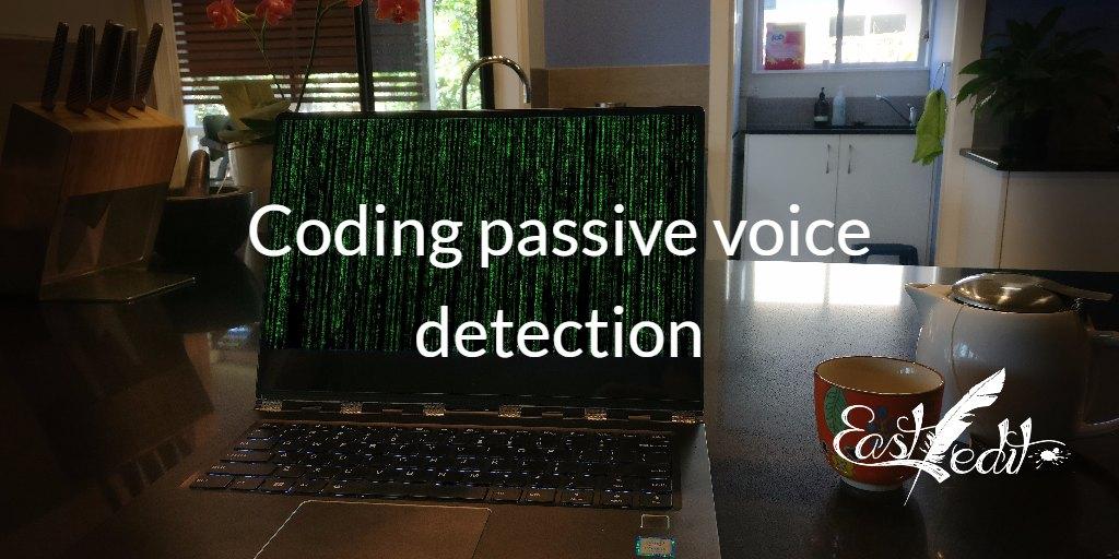 Banner image: Coding passive voice detection