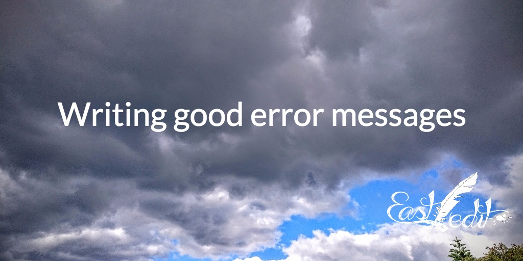 Writing good error messages
