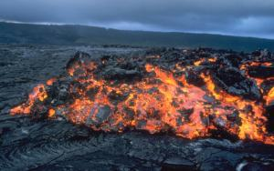 A type of lava (thanks, Wikipedia)