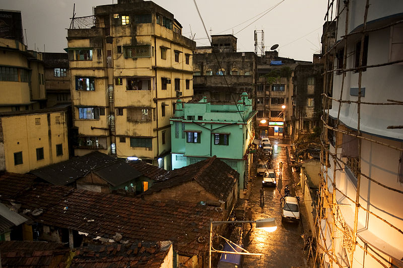 Rainy street in Kolkata (image from Wikicommons)
