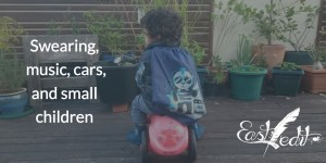 Banner image: child on toy car
