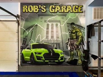 shelby mustang hulk garage wall wrap