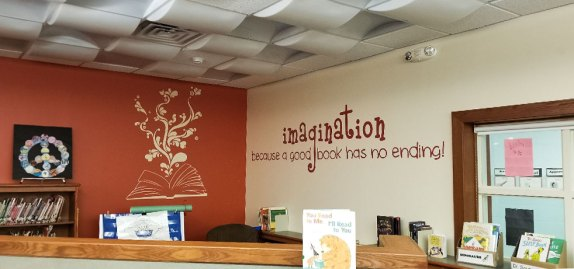 book store wall wrap