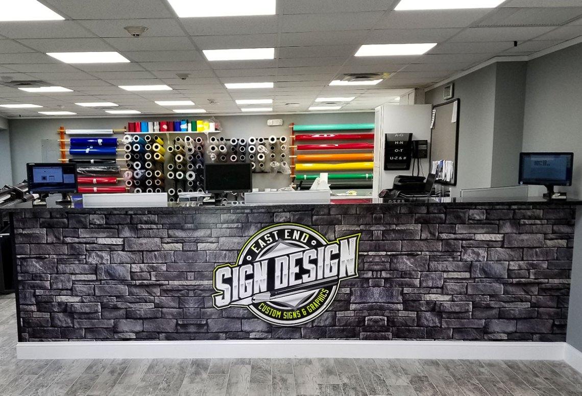 east end sign design interior