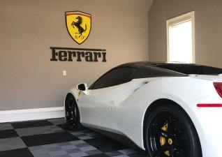 Ferrari raised interior sign