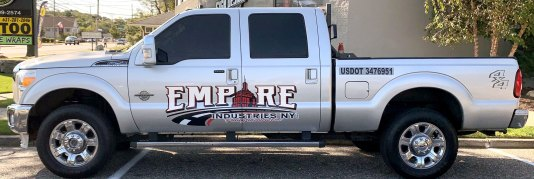 Empire Industries vehicle lettering