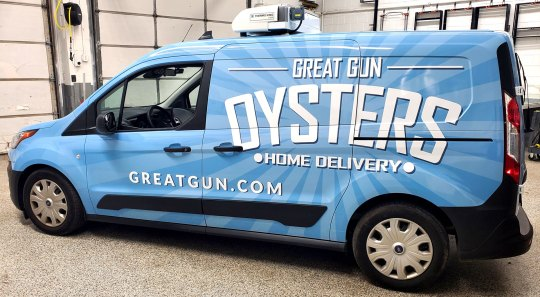 Great Gun Oysters vehicle wrap