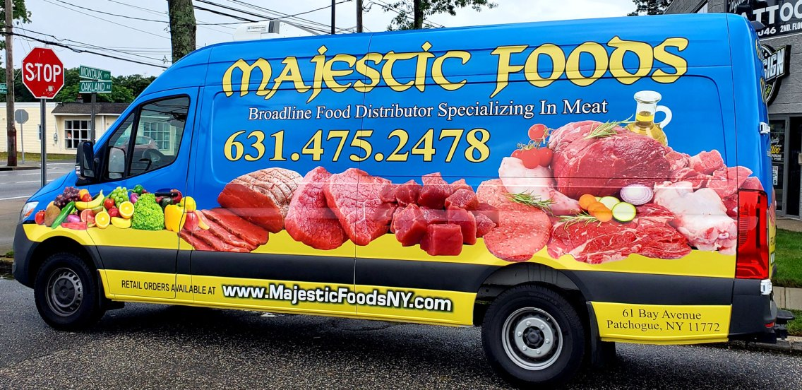 Majestic Foods vehicle wrap