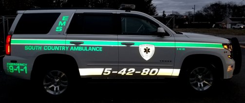 South Country Ambulance vehicle reflective