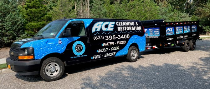ace cleaning truck & trailer wrap