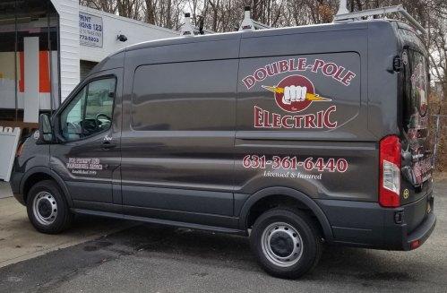 double-pole truck lettering