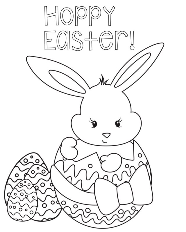 Happy Easter Coloring Pages For Kids, Preschoolers & Toddlers